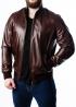 Осенняя кожаная мужская куртка под резинку TRL0K