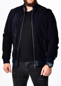 Осенняя замшевая мужская куртка под резинку TRZ0I