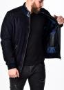 Осенняя замшевая мужская куртка под резинку
