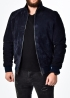 Winter suede jacket with fur under the elastic band TRZ2IB