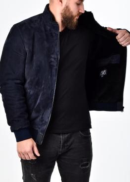 Зимняя замшевая куртка с мехом под резинку TRZ2IB