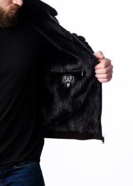Зимняя замшевая куртка c норковым подкладом TRZ2KNN