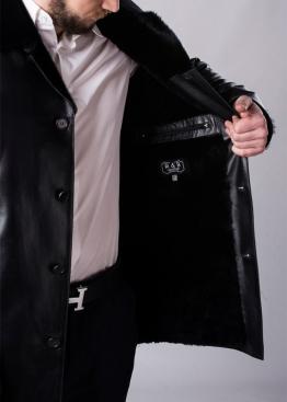 Зимнее кожаное пальто на меху 63L2BB