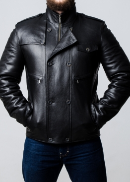 Зимняя кожаная куртка с мехом 77S2BB