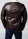 Зимняя кожаная мужская куртка с мехом
