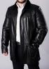 Зимнее кожаное пальто на меху 94K2BB