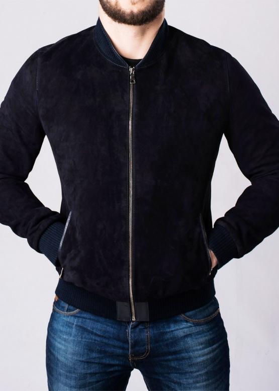 Suede men's jacket (American, bomber jacket)