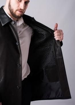 Осеннний кожаный френч пальто FRH1B