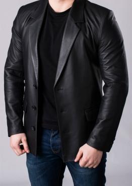 Кожаный пиджак мужской JACL0B