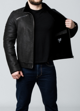 Зимняя кожаная куртка на меху JARNB2BB