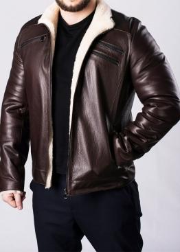 Winter leather men's jacket with fur JARS2KV