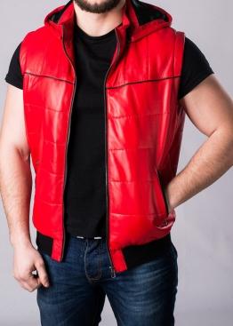 Жилет-пуховик кожаный мужской JPHL1R