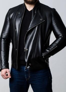 Весенняя кожаная куртка-косуха мужская KOSL1B