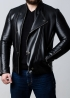 Men's demi-season leather jacket KOSL1B