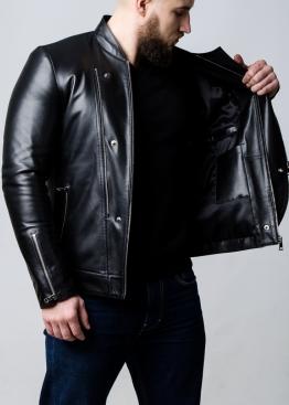 Демисезонная кожаная куртка-косуха мужская KOSL1B