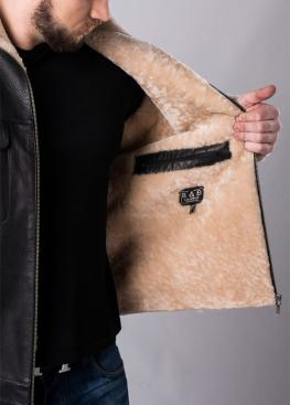 Зимняя кожаная куртка с мехом M88A2BV