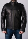 Winter leather jacket with fur