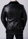 Winter leather coat with fur for men