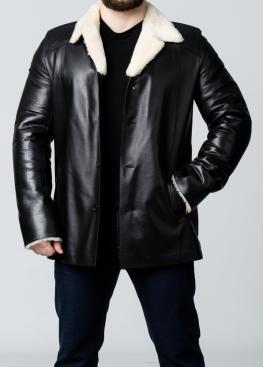 Зимнее кожаное пальто на меху N65L2BV