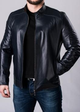 Осенняя кожаная куртка мужская приталенная NJARL1I