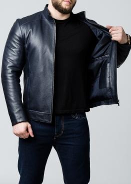 Осенняя кожаная куртка мужская приталенная NJARS1I