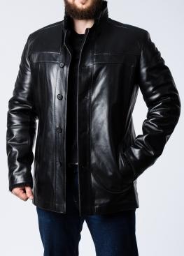 Зимнее кожаное пальто на меху мужское STL2BB