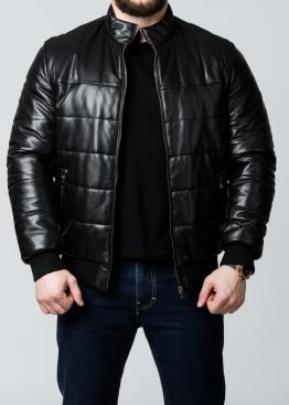 Осенняя кожаная мужская куртка под резинку TRPHS1B