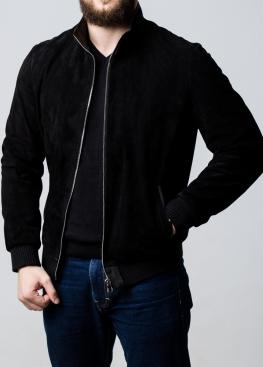 Осенняя замшевая мужская куртка под резинку TRZ0B
