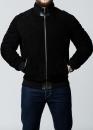 Зимняя замшевая куртка с мехом под резинку