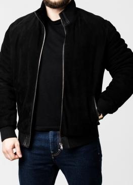 Зимняя замшевая куртка с мехом под резинку TRZ2BB
