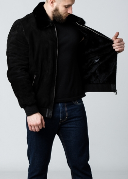 Зимняя замшевая куртка c норковым воротником TRZ2BN