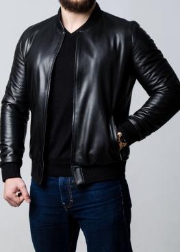 Весняна шкіряна куртка (американка, бомбер) ATRL0B