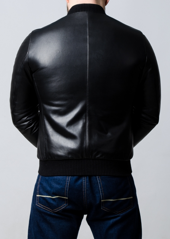 Spring leather jacket (American, bomber)