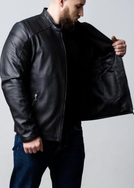 Весенняя приталенная куртка из натуральной кожи оленя F1OL0B