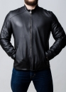 Весенняя приталенная куртка из натуральной кожи оленя