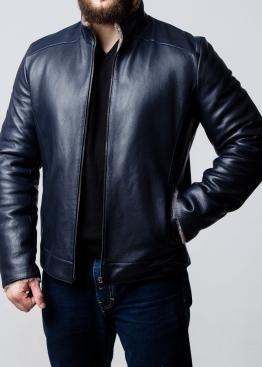 Зимняя кожаная куртка приталенная NJARS2IK
