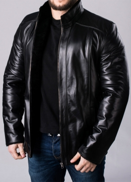 Зимняя кожаная куртка мужская NMLL2BB