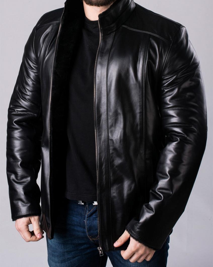 630f7e02f9136 Зимняя кожаная куртка мужская NMLL2BB