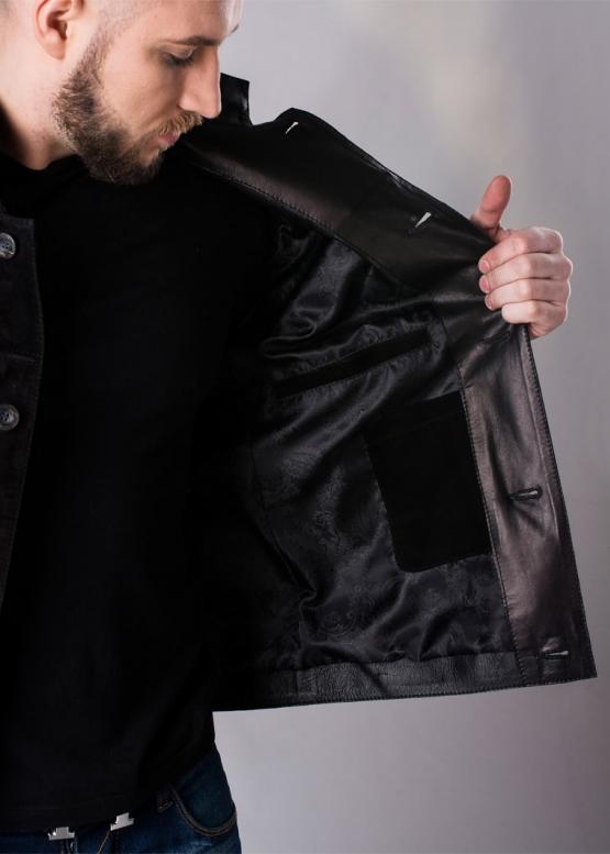 Осенняя замшевая приталенная куртка