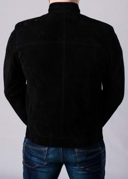 Осенняя замшевая приталенная куртка P88Z0B