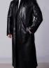Men's Long Coat Leather PLF1B