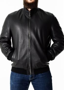 Осіння куртка зі шкіри теляти під резинку TROP1B