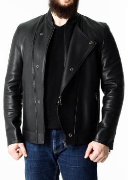 Men's demi-season leather jacket KOSOP1B