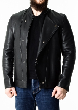 Men's demi-season leather jacket KOSOP1B