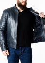 Spring fitted leather men jacket