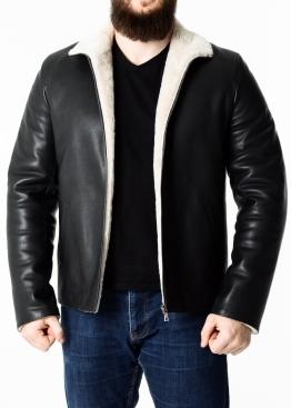 Winter leather jacket men calfskin MLOP2BV