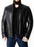Зимняя приталенная кожаная куртка F1S2BB