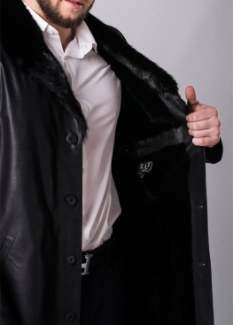 Winter leather coat with fur PTH2BB
