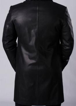 Зимнее кожаное пальто на меху PTH2BB