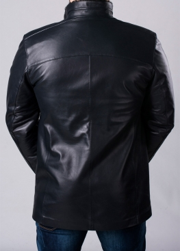 Winter leather men's coat with fur STL2IB